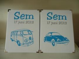 Geboorte bewaardoos VW bus of VW kever