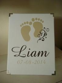 Geboorte bewaardoos feet