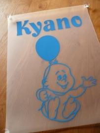 """Geboorte raambord 50*65 cm """"Kyano"""""""