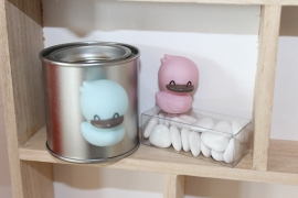 Design eend magneet roze