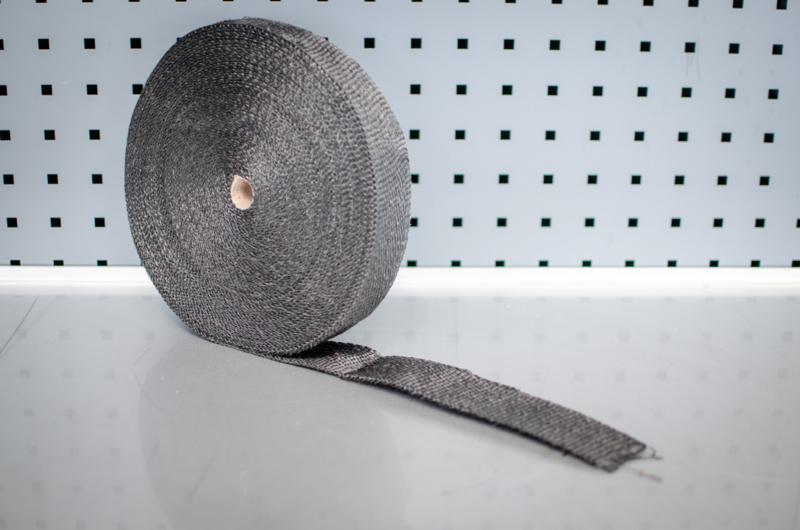 Hitteband heatwrap 15 meter keramisch ZWART