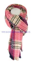 N12 sjaal ENEC-844 blauw-fuchsia