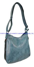 N72 Handtas Ines Delaure 1681669 petrol (blauw)