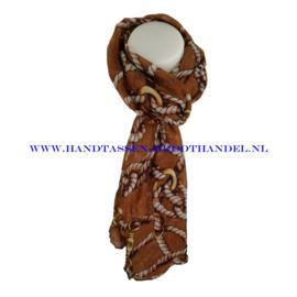 N5 sjaal ENEC-823 coffee (bruin)