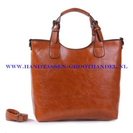 N72 Handtas Ines Delaure 168168 fauve (oranje - camel)