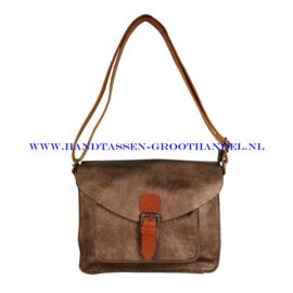 N115 Handtas Flora & Co 6711 marron metal (bruin)