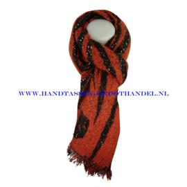 N68 sjaal ENEC-908 donker oranje