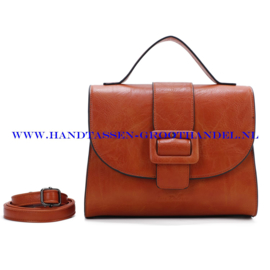N72 Handtas Ines Delaure 1682560 fauve (oranje - bruin)