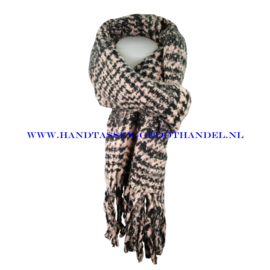 N15 sjaal 1856 zwart/roze