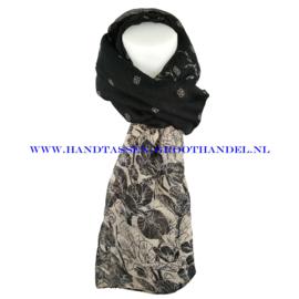 N7 sjaal 6218 zwart - taupe