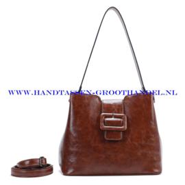 N72 Handtas Ines Delaure 1682541 choco (bruin)