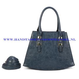 N112 Handtas Ines Delaure 1682718 bleu horizon (blauw)