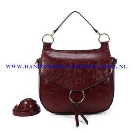 N107 Handtas Ines Delaure 1682477 marsala (rood)