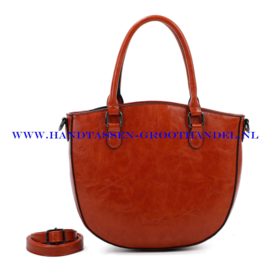 N72 Handtas Ines Delaure 1682468 fauve (bruin - oranje)