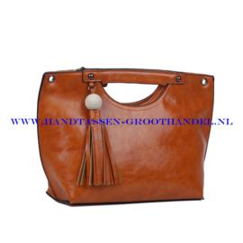N72 Handtas Ines Delaure 1681823 fauve (oranje - camel)
