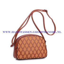 N28 Handtas Ines Delaure 1682045a fauve (oranje - camel)