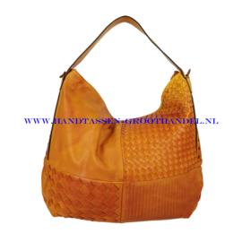 N39 Handtas Qischa 181-r bruin (oranje)