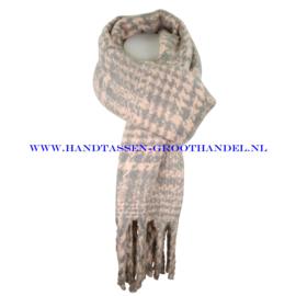 N15 sjaal 1856 grijs/roze