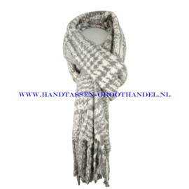N15 sjaal 1856 wit/grijs