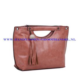 N72 Handtas Ines Delaure 1681823 terracotta (roze - rood - zalmroze)