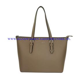 N39 Handtas Flora & Co 9126 taupe fonce (bruin)