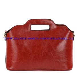 N35 Handtas Ines Delaure 168018 brique (rood - camel)