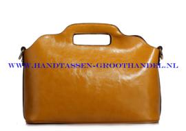N35 Handtas Ines Delaure 168018 saffran (geel - camel)