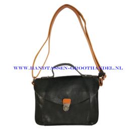N31 Handtas Flora & Co 6710 zwart-camel