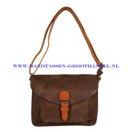 N115 Handtas Flora & Co 6711 chocolat (bruin)