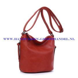 N27 Handtas Ines Delaure 1682059 brique (rood - camel)