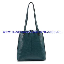 N38 Handtas Ines Delaure 1682267 emmeraude (groen - blauw)