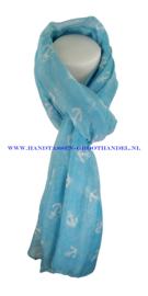 N5 sjaal enec-1043 blauw