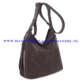 N72 Handtas Ines Delaure 1681669 marron (donker brin)
