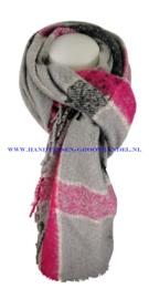 N12 sjaal ENEC-872 grijs-fuchsia