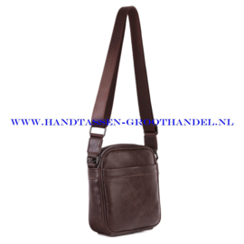 N34 Men bag Blue Smith 128012 marron (bruin)