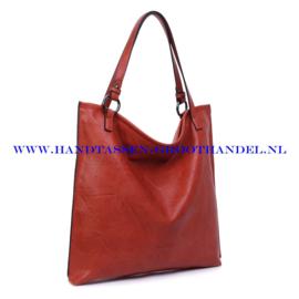 N72 Handtas Ines Delaure 1682083 brique (rood - camel)