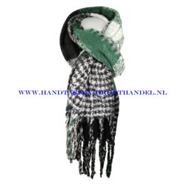 N16 sjaal 1858 groen/zwart