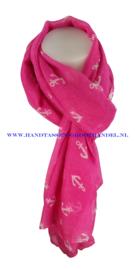 N5 sjaal enec-1043 rose red (fuchsia - roze)