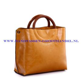 N73 Handtas Ines Delaure 1681677 saffran (geel - camel)