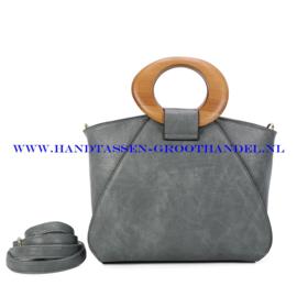 N107 Handtas Ines Delaure 1682209m gris sauge (grijs)