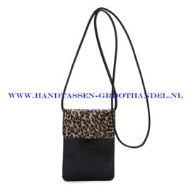 N20 Handtas Ines Delaure 1682350L gold (bruin - luipaard)