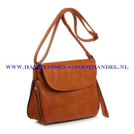 N35 Handtas Ines Delaure 1681826 fauve (oranje - camel)