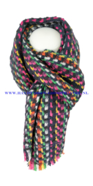 N12 sjaal ENEC-921 zwart-blauw