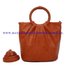 N73 Handtas Ines Delaure 1682617 fauve (oranje - camel)