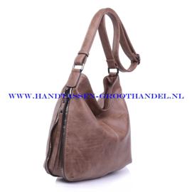 N72 Handtas Ines Delaure 1681669 frappuccino (bruin - taupe)