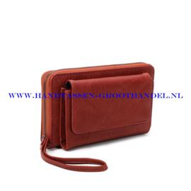 N21 portemonnee Ines Delaure E019 brique (bruin - rood)