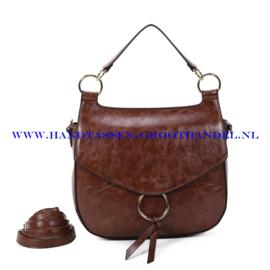 N107 Handtas Ines Delaure 1682477 choco (bruin)