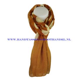 N5 sjaal ENEC-821 tumeric (oker - bruin)