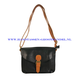 N31 Handtas Flora & Co 6788 zwart - camel