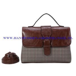 N39 Handtas Ines Delaure 1682801 choco (bruin)